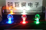 5V single color lighted Illuminated joystick with blue or white Transparent top Ball and microswitch