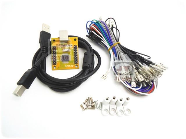 PC/PS3 二合一双人USB摇杆芯片 电脑街机摇杆板