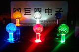5V single color lighted Illuminated joystick with crystal bobble top ball and microswitch