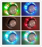 亞克力七彩发光裝飾帶燈按钮