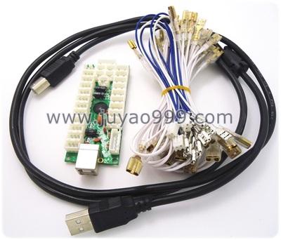 USB PCS PC 2合一 街机摇杆 街机控台 带灯晶片 配全套线
