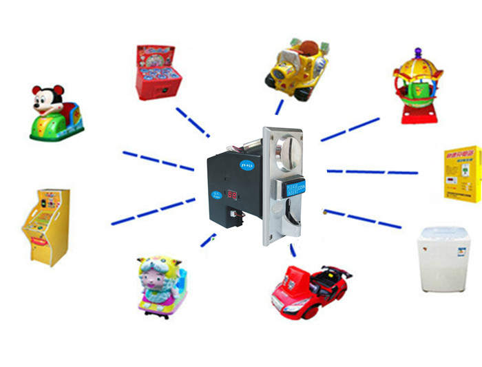 coin operated multi coin acceptor for multi different coins, vending machine, massage machine