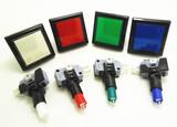 44*44正方形带灯按钮 游戏机按钮 附灯附三足常闭常开弹片型微动