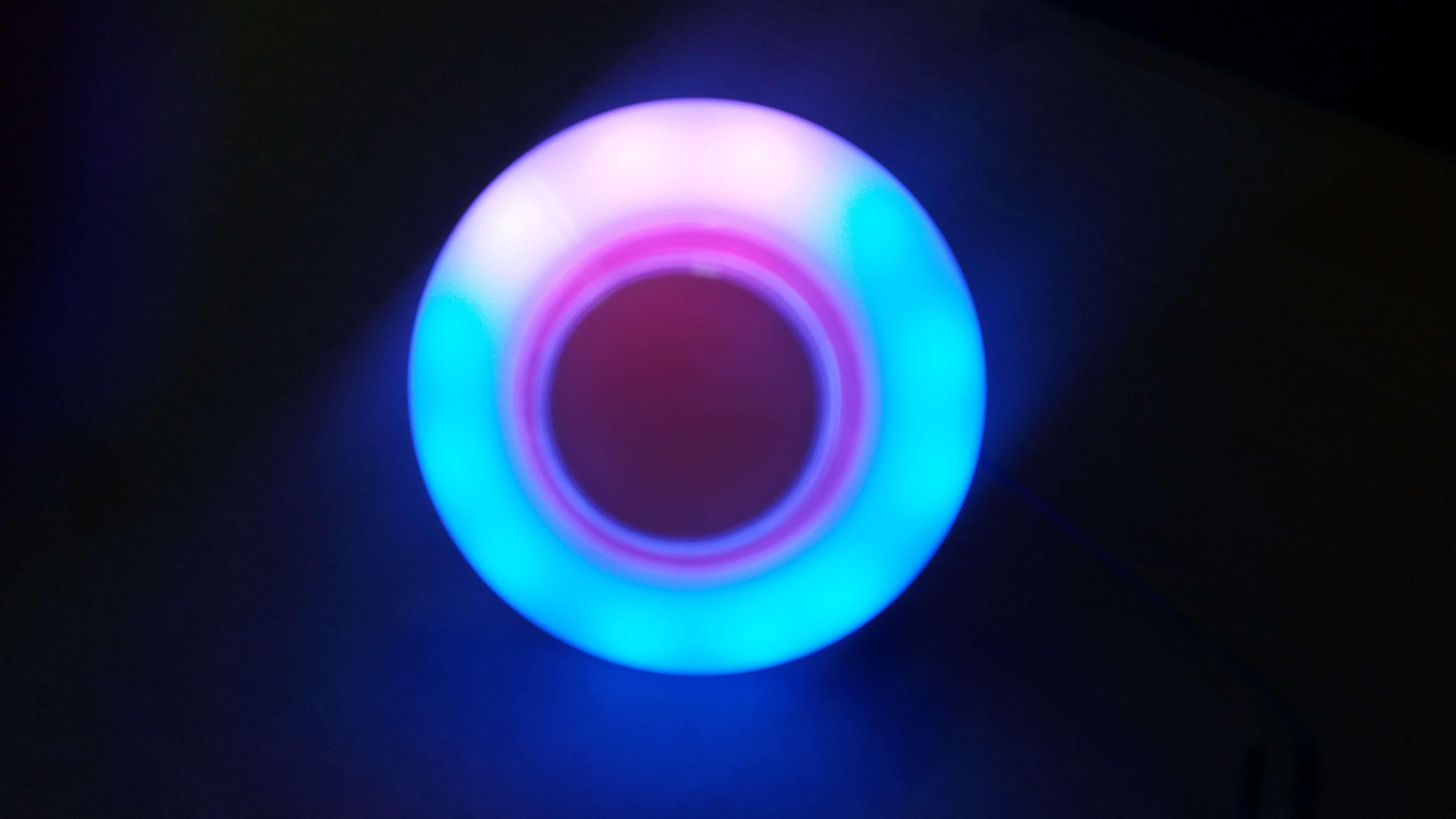 UFO幽浮70mm七彩灯罩配中圆带灯按钮