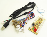 PC joystick PCB, USB joystick PCB with wires, USB controls to Jamma arcade game